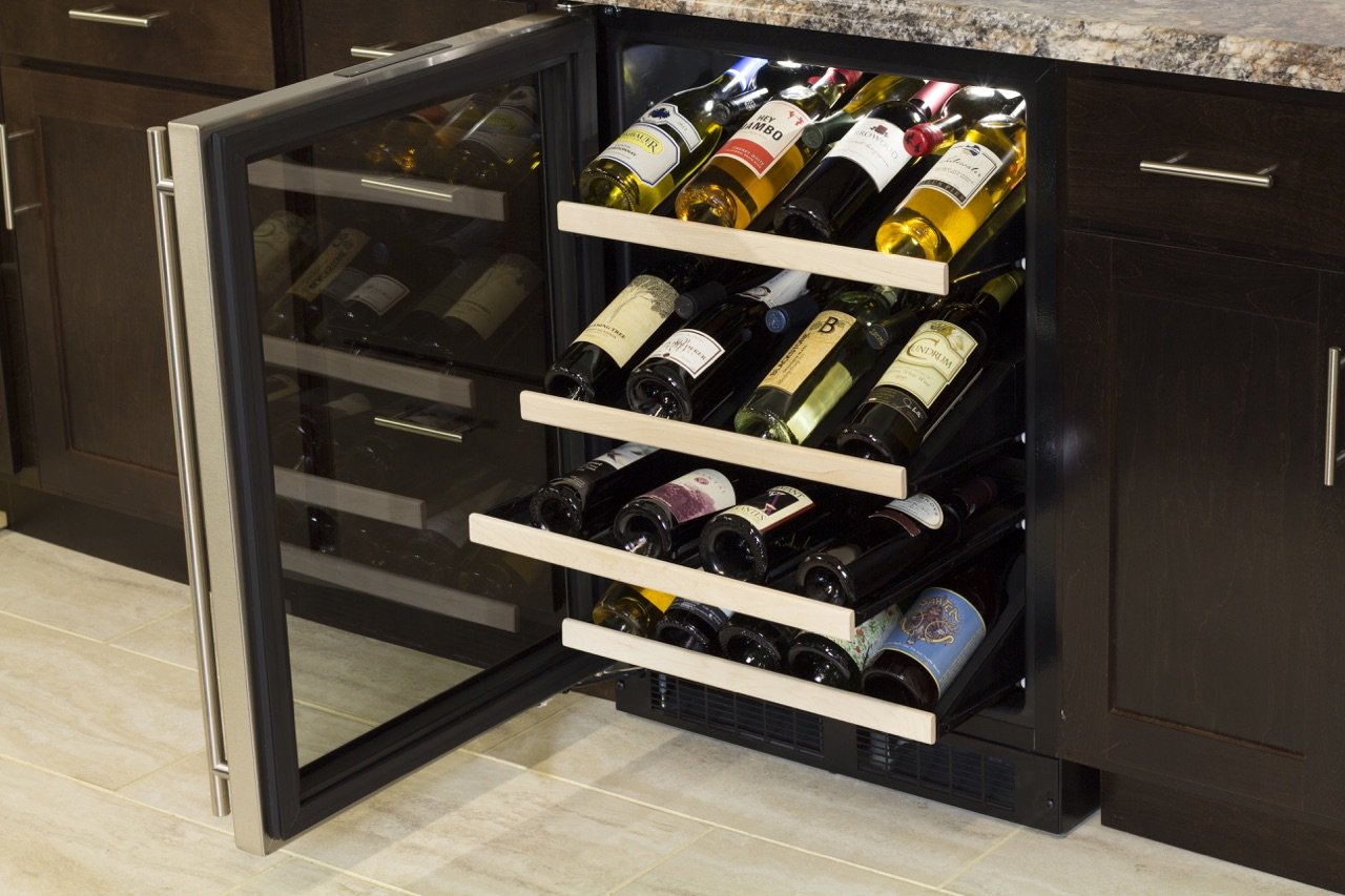 Marvel ML24WSG1RS Gallery Single Zone Wine Cellar, 24'', Stainless Steel