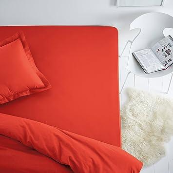 La Redoute Escenario fixlein (algodón, Estándar, Poly colchones, Rojo, 140 x 190 cm: Amazon.es: Hogar