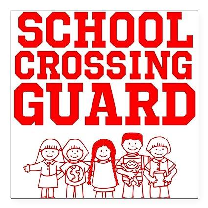 Cafepress school crossing guard square car magnet 3 x 3 square car