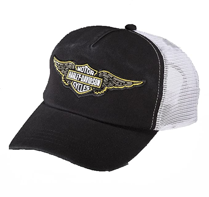 Harley-Davidson Womens Iconic Winged B S Colorblock Cotton Trucker Cap  99538-16VW  Amazon.ca  Clothing   Accessories 210bc417bd29