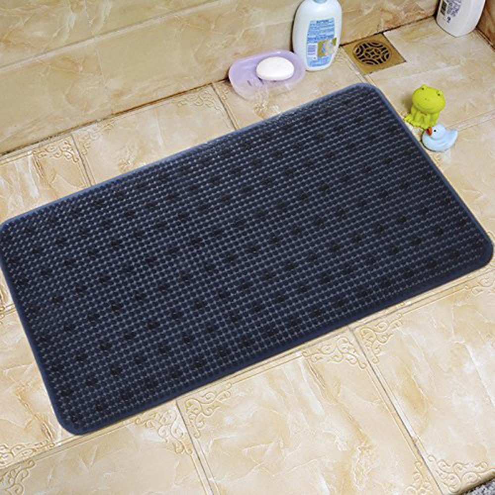 YK Decor Bath Tub Shower Mat Non-slip PVC Bathtub Mats Machine Washable Mildew Resistant Anti Bacterial Shower Mat for Bathroom with Suckers (Dark Blue, 28x14 inch) by YK Decor (Image #2)