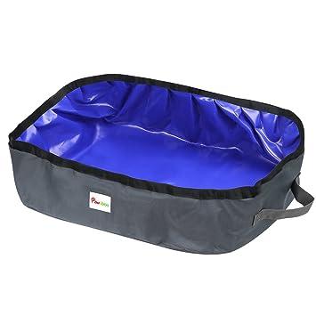 Pawaboo Caja de Arena Plegable para Gatos, 18 x 12 Inch Portable Waterproof Fabric Pet