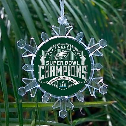 725981b6b07 Amazon.com   Philadelphia Eagles Super Bowl Champions Snowflake blinking  lights Holiday Christmas Tree Ornament   Everything Else