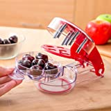 YouTensils Cherry Pitter & Olive Tool - 6 Cherries at Once | Includes Cherry Recipe EBOOK
