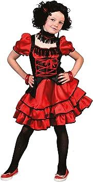 Generique - Disfraz Cabaret Rojo y Negro niña: Amazon.es ...