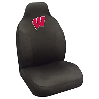 FANMATS NCAA University of Wisconsin Badgers Polyester Seat Cover: Automotive
