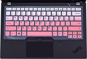 "Keyboard Cover Laptop Cover Compatible with Lenovo Thinkpad X1 Carbon 5th/6th & ThinkPad X1 Yoga Gen & ThinkPad A475 L460 L470, T460 T460p T460s T470 T470p T470s T480 T480S 14"" Laptop (Ombre Pink)"