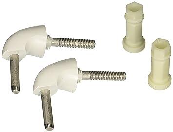 bemis toilet seat parts. Bemis 7BHK84 000 Toilet Seat Hinge Hardware Kit  White Amazon com