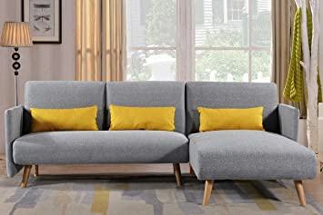dreamwarehouse all new los angeles light grey fabric corner sofa bed rh amazon co uk sleeper sofa los angeles ca sofa bed sale los angeles