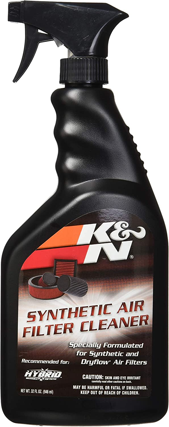 K&N Synthetic Air Filter Cleaner and Degreaser: 32 Oz Spray Bottle; Restore Engine Air Filter Performance, 99-0624: Automotive