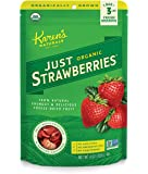 Karen's Naturals Organic Just Strawberries, 4 Ounce Pouch, Freeze-Dried Organic Strawberries, Non-GMO, No Additives, No Preservatives, No Sweeteners