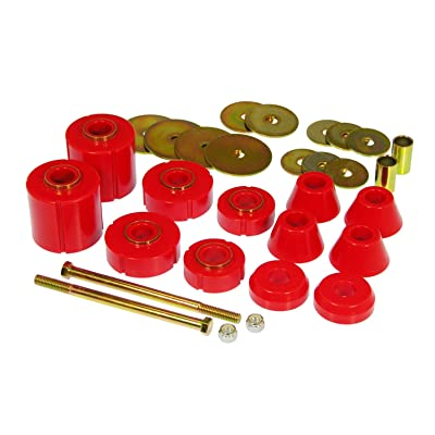 Prothane 7-103 Red Body and Standard Cab Mount Bushing Kit - 12 Piece: Automotive