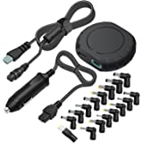 Outtag 90W 15-20V Universal Laptop Car Charger DC Power Adapter w/Multi Tips & Detachable Cord for HP Dell Toshiba IBM Lenovo Acer ASUS Compaq Samsung Sony and More Notebooks (Black)