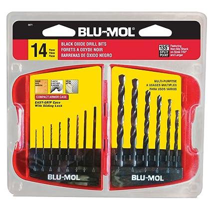 Disston E0101908 Blu-Mol Oxide Drill Bit Sets, Plastic case