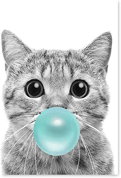 "Poster 24/"" x 36/"" Cat Green Eyes Closeup"