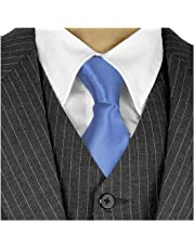 Long Ties For Men 3in Satin Silk Finish Neck Ties Fashion Solid Color