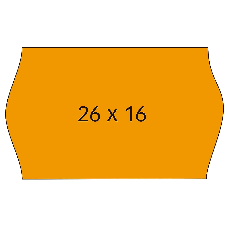 APLI 101566 - Pack de 6 rollos para etiquetadora, color naranja