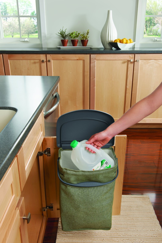 Rubbermaid Hidden Recycler Over-The-Door Under Cabinet Recycle Waste Bin Bag by Rubbermaid