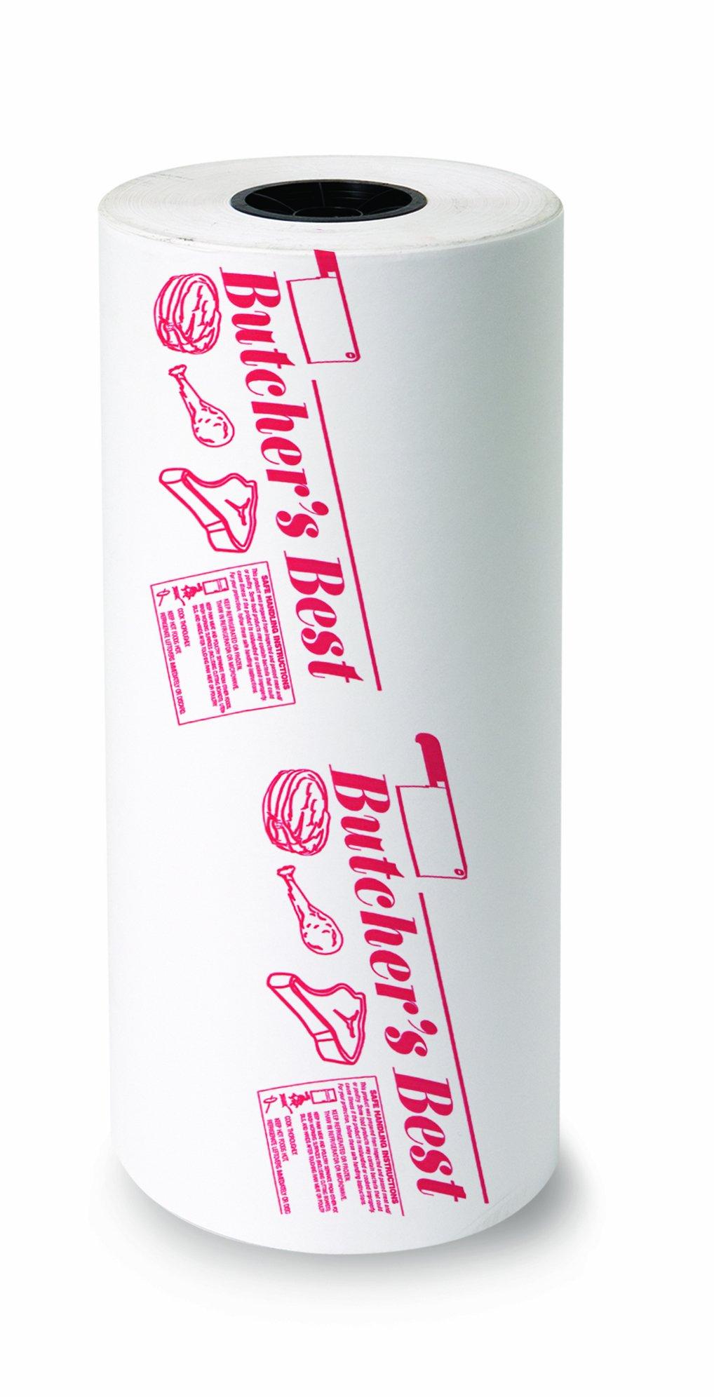 Bagcraft Papercon 135118 FL15 Paper/Poly Regular Weight Freezloc Freezer Paper Roll, ''Butcher's Best'', 1000' Length x 18'' Width