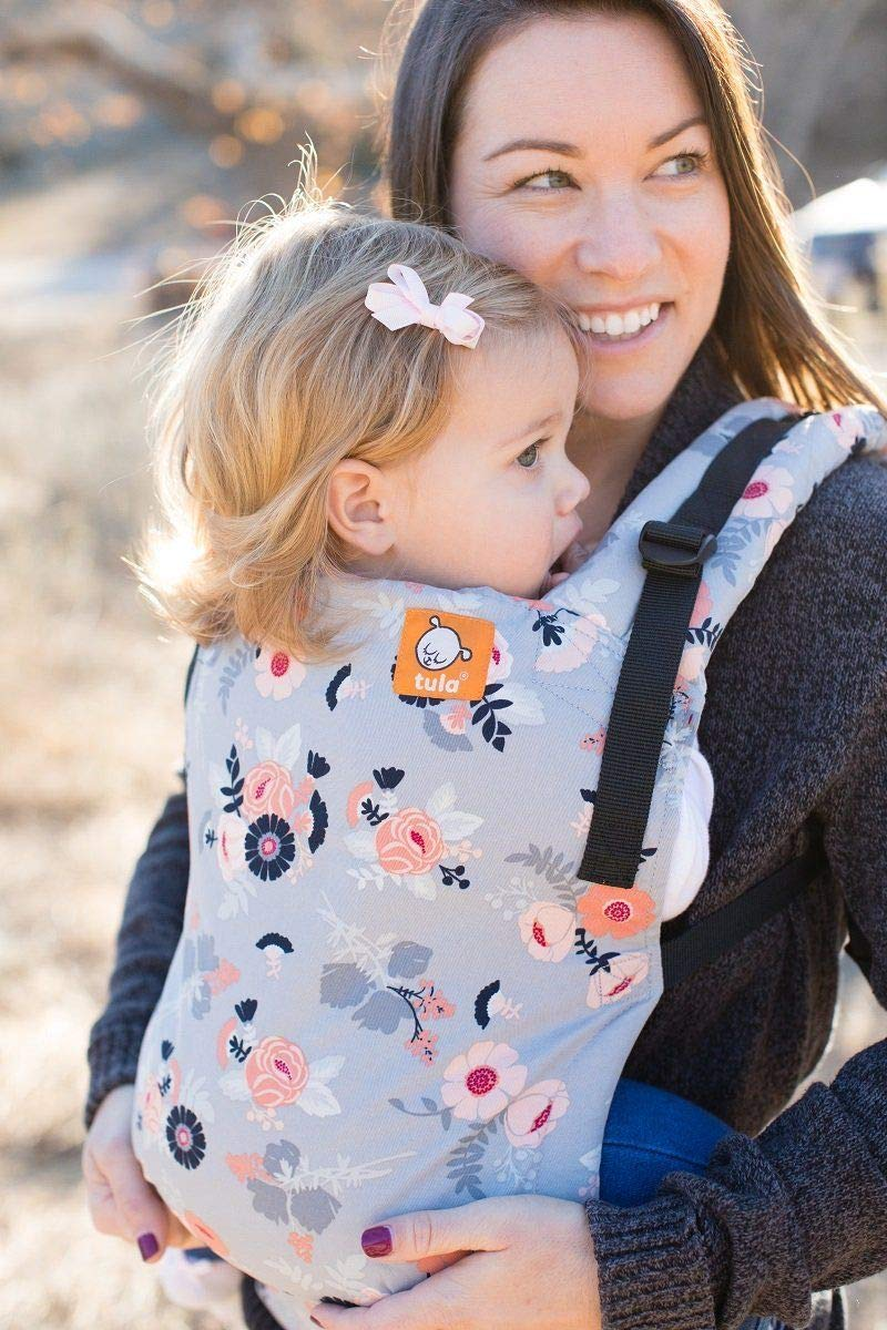 Baby Tula Free-to-Grow Baby Carrier 7 Lightweight Ergonomic Inward Front and Back Carry Stormy Gray Easy-to-Use 45 lb Adjustable Newborn to Toddler Carrier