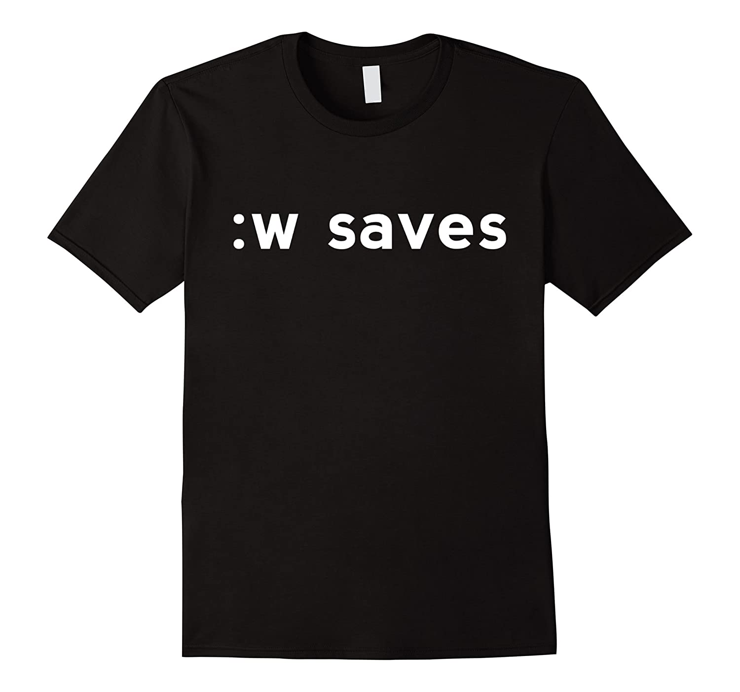 :w saves White Shirt for Users of the Text Editor Vi/Vim-Art