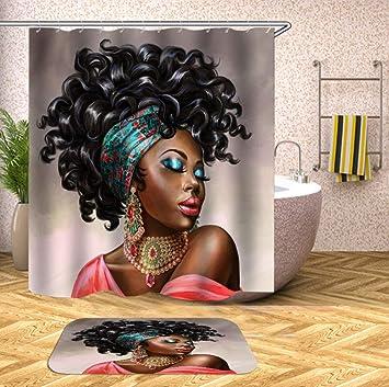 CHRISTMAD Mädchen Bad Vorhang Wasserdichtes Gewebe Afrikanische ...