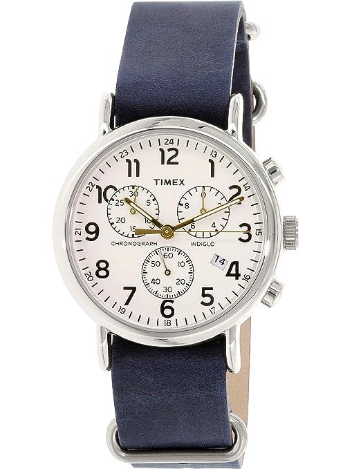 04074f47c110 Timex Reloj Analogico para Unisex de Cuarzo con Correa en Cuero TW2P62100   Timex  Amazon.es  Relojes