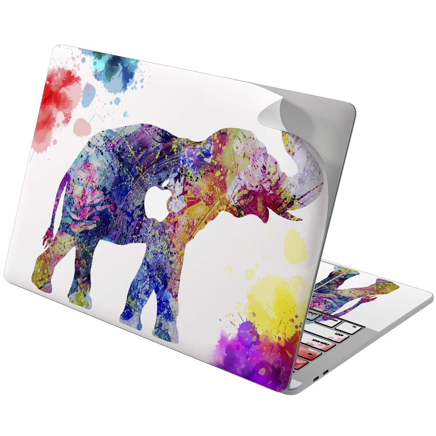 Lex Altern Vinyl Skin for MacBook Air 13 inch Mac Pro 15 Retina 12 11 2019 2018 2017 2016 2015 Watercolor Splash Pattern Nature Pink Elephant Touch Bar Laptop Cover Keyboard Decal Sticker Wrap Girl by Lex Altern (Image #5)