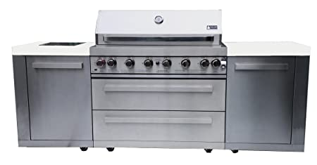 Mont Alpi MAI805 44 Outdoor Barbeque Island, 47.00 x 20.00 x 93.00 inches, Stainless Steel