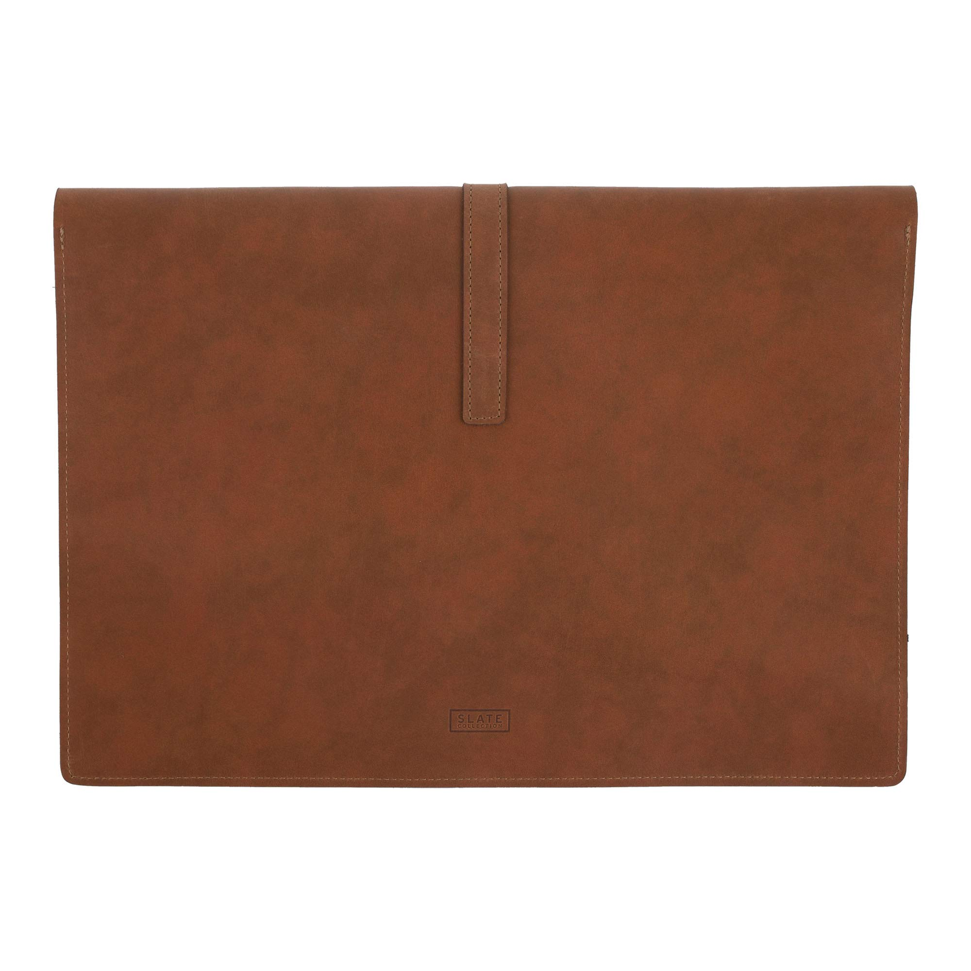 SLATE COLLECTION Belltown Small Laptop Sleeve, Full-Grain Leather (Cognac, fits 13'' Laptop) by SLATE COLLECTION (Image #4)