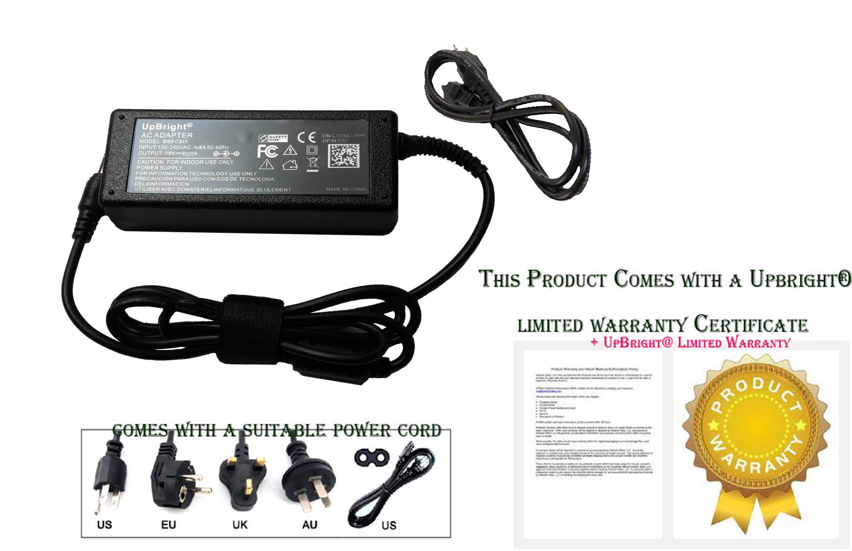 UpBright NEW Global AC / DC Adapter For Motion Computing C5m F5m CFT-004 10.4'' Tablet PC Power Supply Cord Cable PS Battery Charger Mains PSU by UPBRIGHT