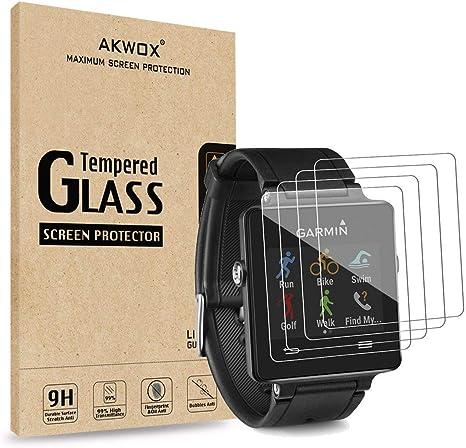 for Garmin Vivoactive 3 Glass Screen Protector 2 Pack Tempered Glass Screen Protector Frontier Protective Protector Clear Cover for Garmin Vivoactive 3