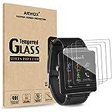 Akwox 4 Stück Schutzfolie für Garmin Vivoactive Panzerglasfolie 9H Härtegrad 0.3mm Kratzfest HD Glasfolie für Garmin Vivoactive Sport GPS Smart Watch