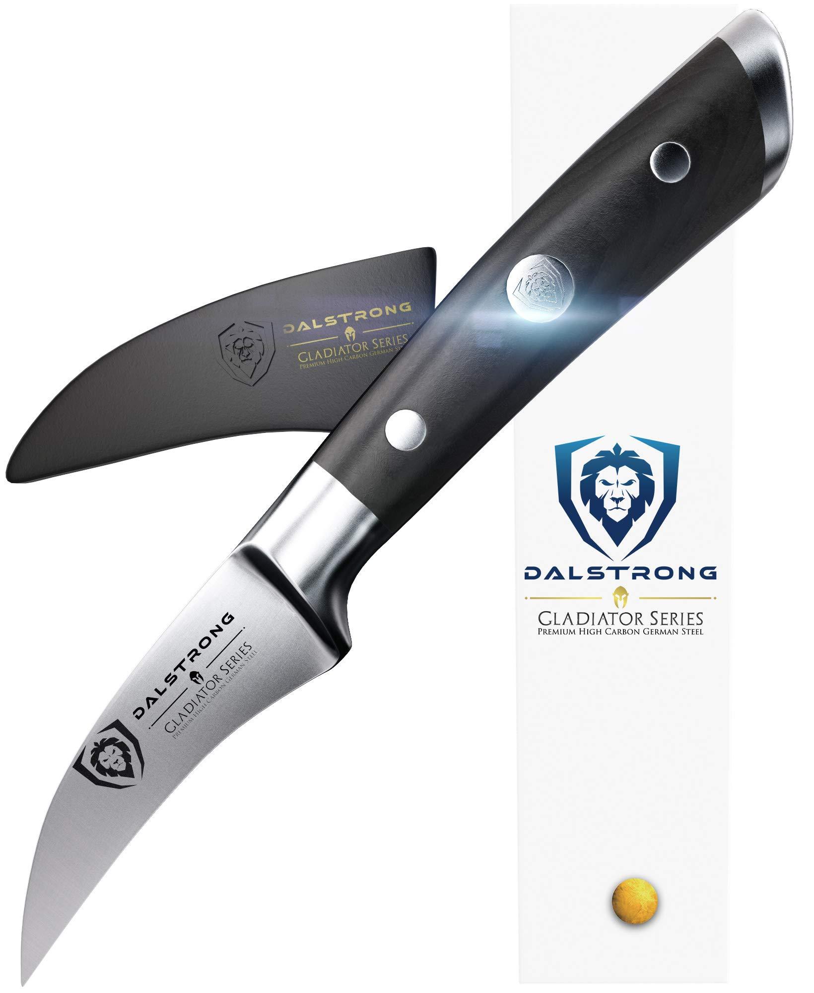 DALSTRONG Paring Tourne Knife Peeler - Gladiator Series - Birds Beak Peeling - German HC Steel - 2.75'' by Dalstrong