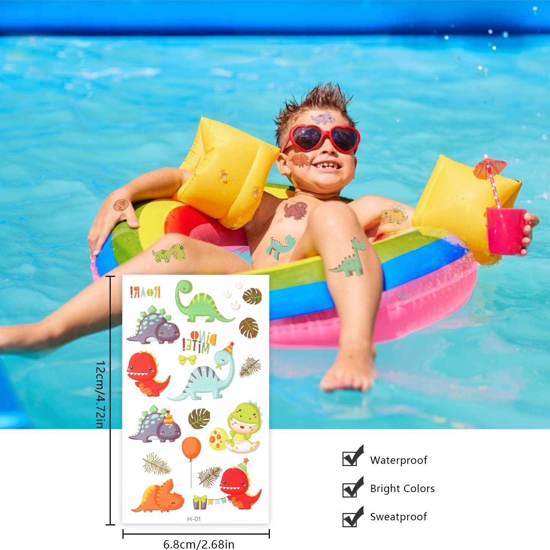 Piezas para Ni/ños Tattoos Infantiles 20 Hojas LOVEXIU Tatuajes Temporales Ni/ños Tatuajes Dinosaurios Pegatinas Dinosaurio Tatuajes Temporales Kit 200