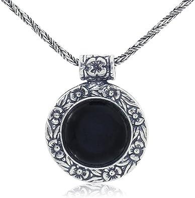 Black Onyx Necklace Black Onyx Pendant Black Onyx Jewelry 925 Sterling Silver Black Onyx Gemstone Onyx Chain Pendant Onyx Large Pendant Gift