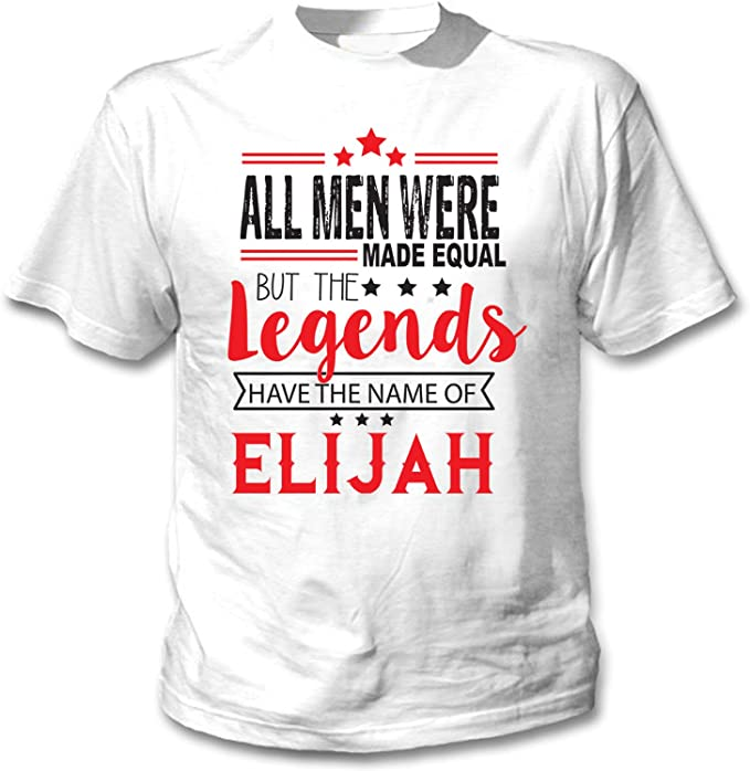 teesquare1st Elijah Camiseta Blanca para Hombre de Algodon: Amazon ...