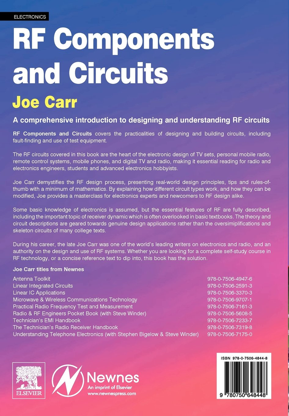 Buy Rf Components And Circuits Book Online At Low Prices In India Electronic Circuit Design Process Reviews Ratings