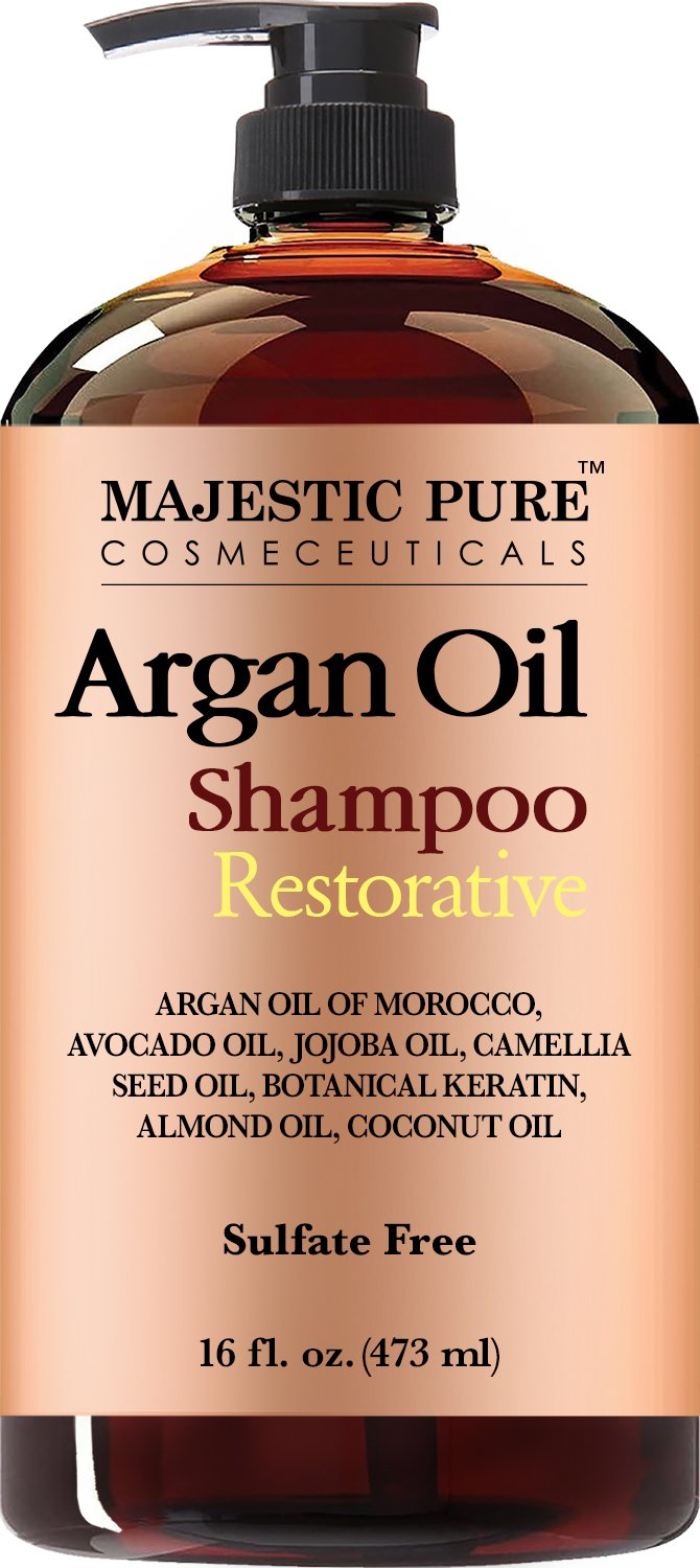 Majestic Pure Argan Oil Shampoo, Offers Vitamin Enriched Gentle Hair Restoration Formula for Daily Use, Sulfate Free, Moroccan Oil & Potent Natural Ingredients, for Men and Women 16 fl. oz … by Majestic Pure