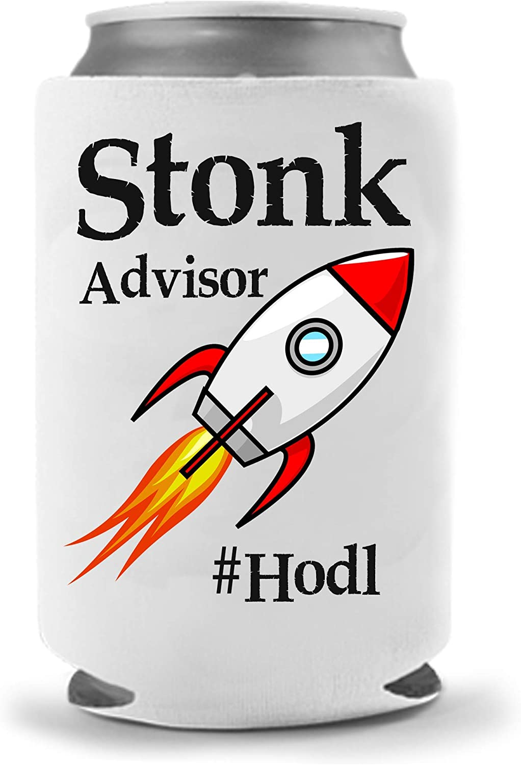 Cool Coast Products - Stonk Advisor HODL Meme Beer Coolie | Funny Parody Coolers | Drink Gifts | Gag Party Huggie | White Elephant | Beer Beverage Holder | Craft Beer Gifts | Insulated Neoprene