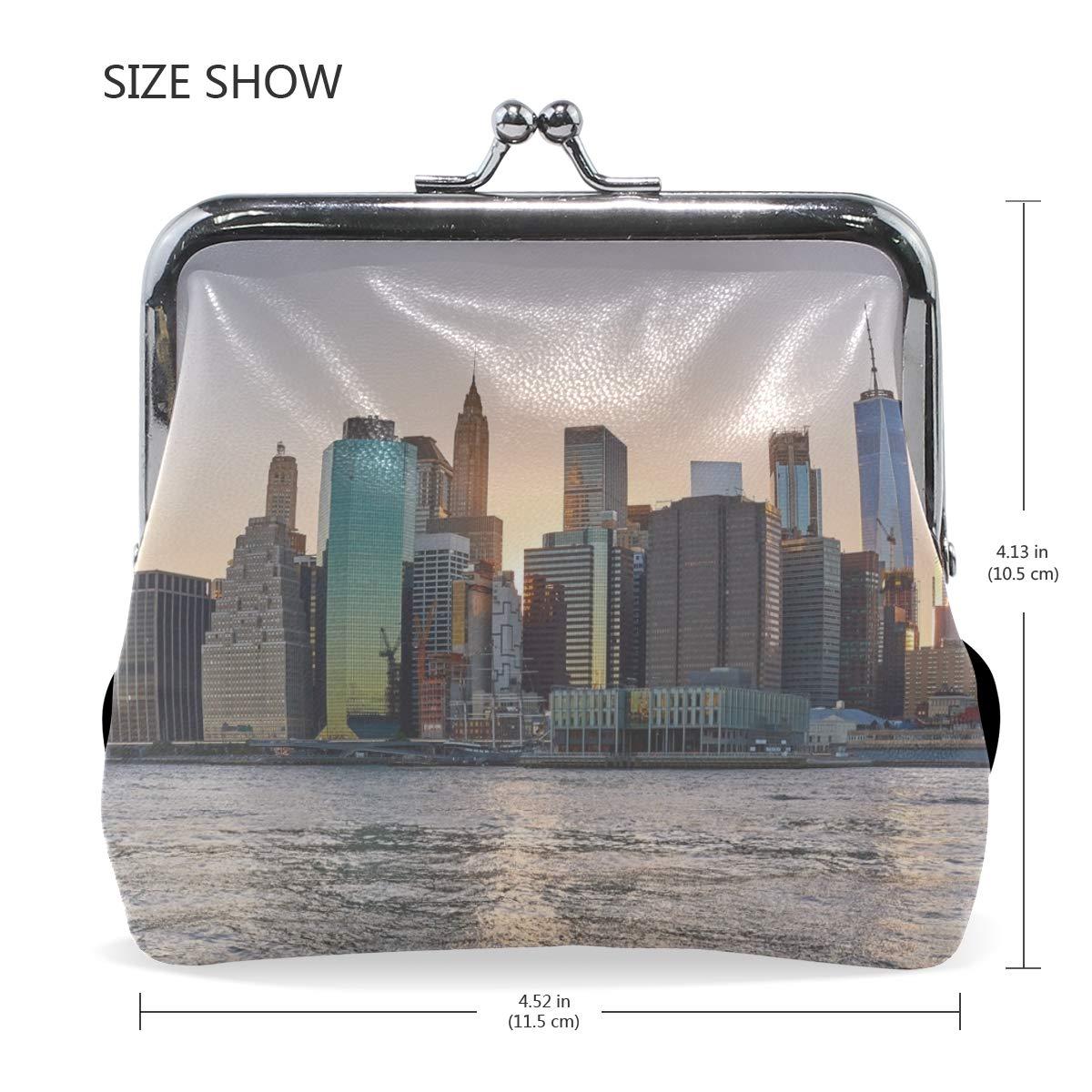 Your Home Coin Purse New York Usa Skyscrapers Beach Print Wallet Exquisite Clasp Coin Purse Girls Women Clutch Handbag