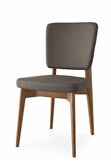 Amazon.com - Connubia Escudo Upholstered Wooden Chair - Beech Walnut ...