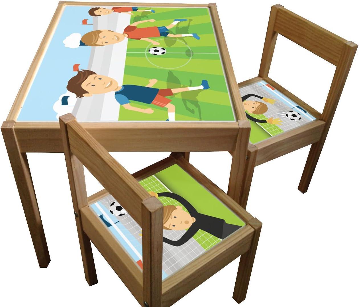 Fútbol – Set de adhesivos para IKEA LATT Mesa y sillas (no incluye ...