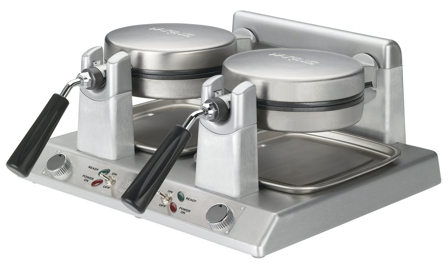 Waring Commercial WW250B Heavy Duty Double Side-by-Side Belgian Waffle Maker, 208-volt