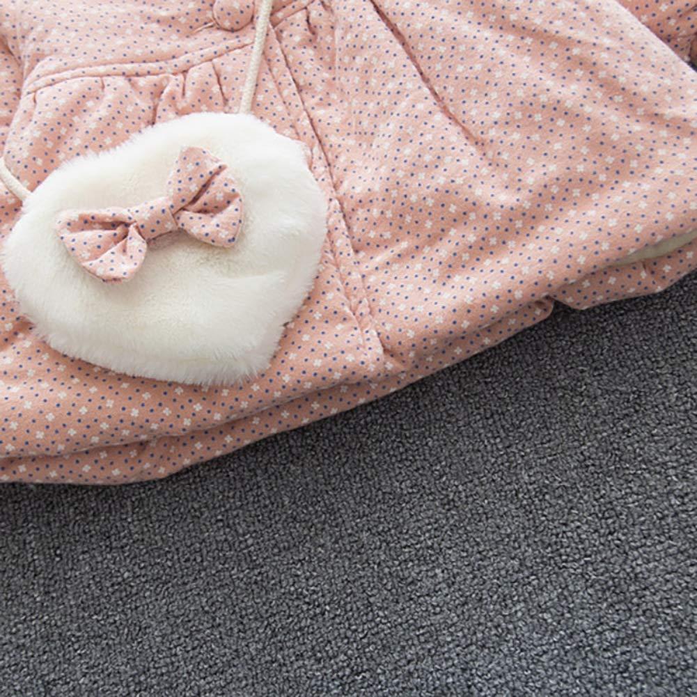 Hotiary Winter Baby Girl Hooded Down Jackets Coat Windproof Warm Outwear 6M-3Y