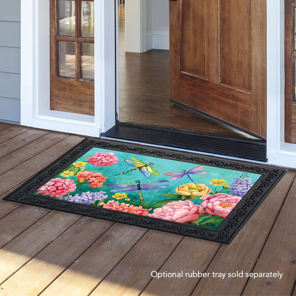 Briarwood Lane Dragonfly Garden Spring Doormat Indoor Outdoor 18 x 30