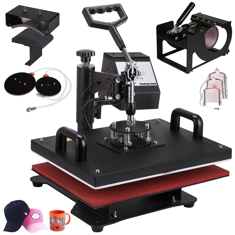 VEVOR Heat Press 12X15 Inch Heat Press Machine 8 in 1 Combo Heat Press Swing Away T-Shirt Hat Cap Mug Plate Digital Transfer Sublimation Machine