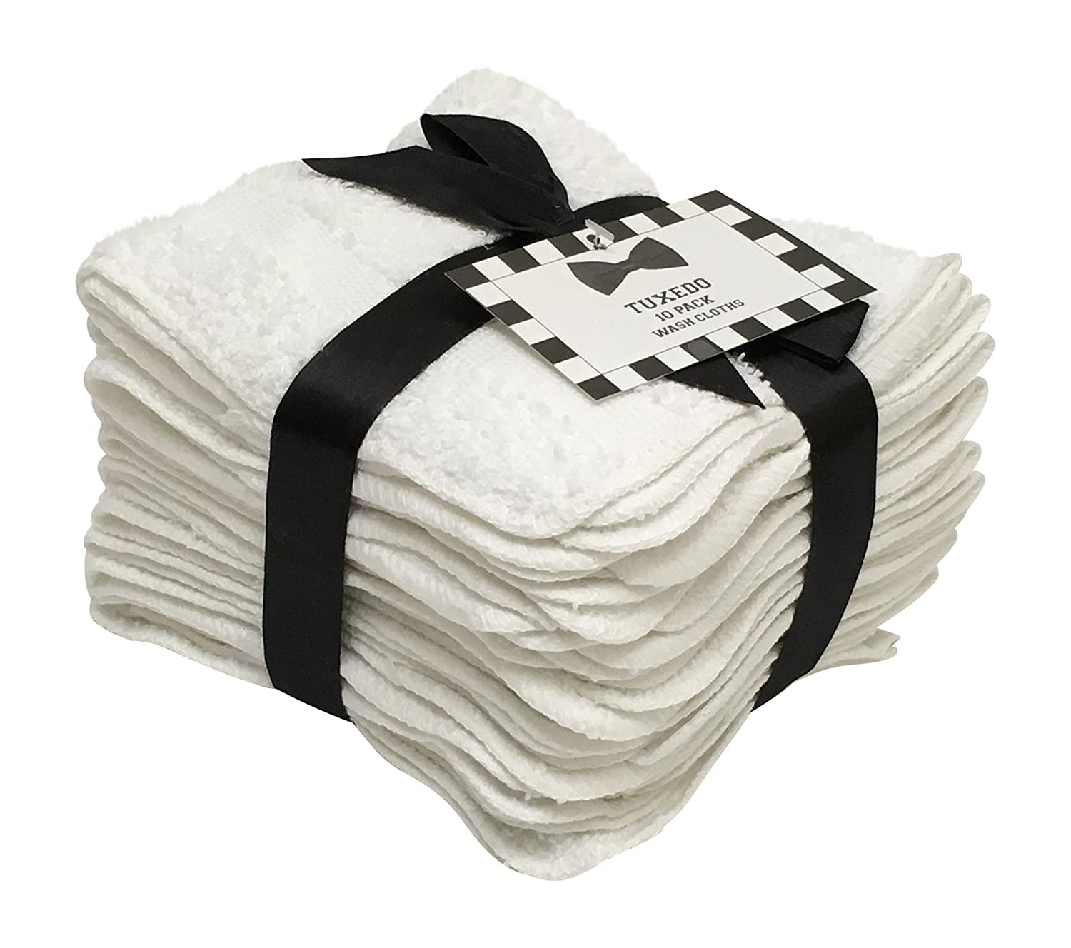 10 Pack Tuxedo Wash Cloths Washcloths
