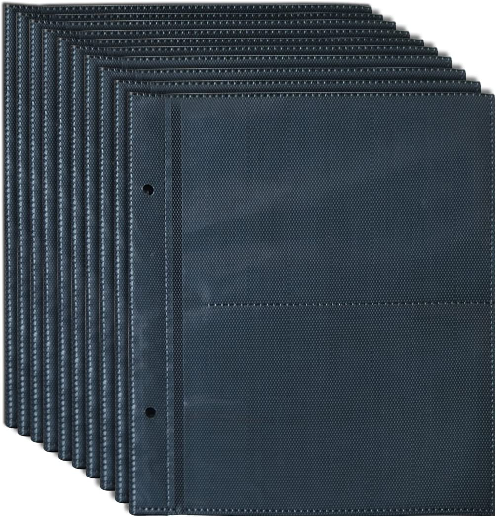 Giftgarden 4x6 Black Pocket Photo Album Pages Hold 4 by 6 inch Picture, 4 Photos/Page(10 Pages)