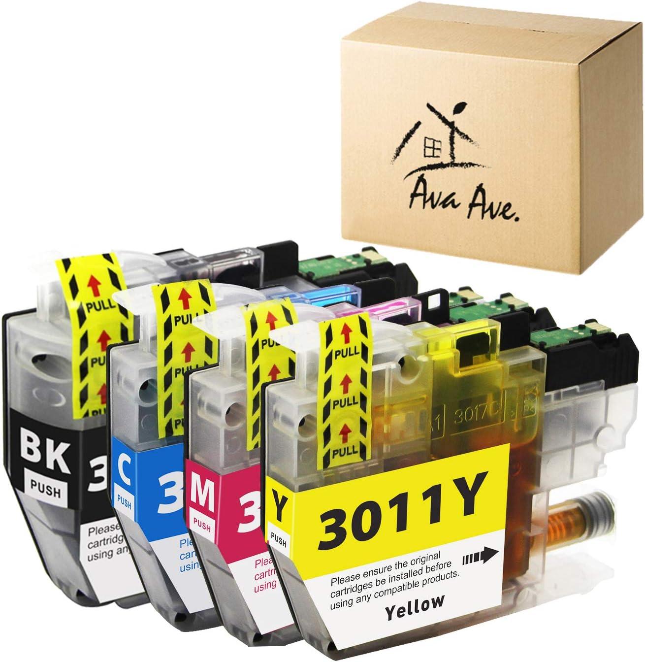 DIGITONER Compatible Ink Cartridge Replacement for Brother LC3011 LC-3011 LC 3011 Ink Cartridges Brother MFC-J491DW MFC-J497DW MFC-J690DW MFC-J895DW Printer 1 Black 1 Cyan 1 Magenta 1 Yellow, 4 Pack